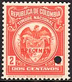 1916 2c Colombia specimen revenue stamp.jpg