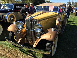 Classic car - Image: 1932 Nash Advanced Eight 4 door convertible (CCCA Full Classic) at 2015 AACA Eastern Regional Fall Meet 02of 17