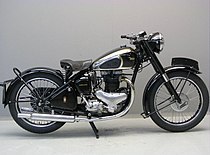 500cc-BSA A7-paralleltwin uit 1948 zonder achtervering