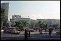 1981-10 Rue du Marché aux Herbes avec vue sur le parking de la Gare Centrale, Bruxelles (11608027236).jpg