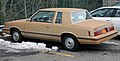 1984 Dodge Aries coupe rear left.jpg