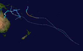 Timeline of the 1990–91 South Pacific cyclone season