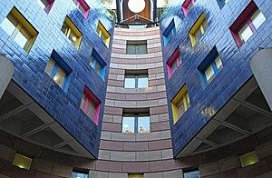 No 1 Poultry - Interior atrium windows