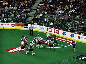 Box lacrosse - National Lacrosse League action during an All-Star Game in 2005