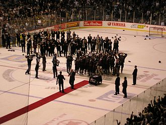 Canadian Hockey League - Image: 2007 Memorial Cup celebration