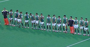Pakistan men's national field hockey team - The national team at the 2008 Summer Olympics in Beijing.
