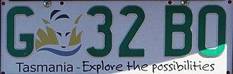 Vehicle registration plates of Tasmania - Government Tasmanian registration plate (2008-present)