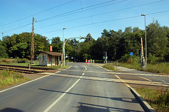 Berlin–Szczecin railway - Former Eberswalde Wasserfall station