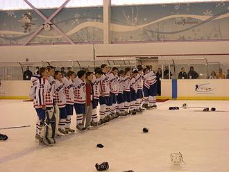 Croatia men's national ice hockey team - The Croatian under-20 team, who won the 2009 World Junior Ice Hockey Championships - Division II Group B