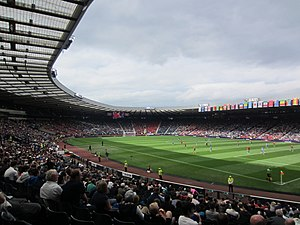 Hampden Park - Hampden hosted football at the 2012 Summer Olympics, including this match between Honduras and Morocco.