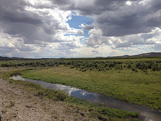 Bruneau River - The Bruneau River at Charleston-Deeth Road in Elko County, Nevada, near its source.