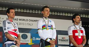 2013 UCI Road World Championships – Men's time trial - Podium of the Men's time trial