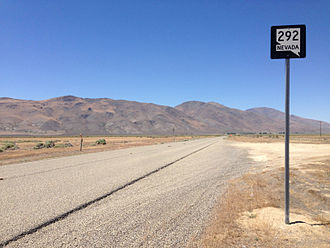 Nevada State Route 292 - View from the south end of SR 292 looking northbound