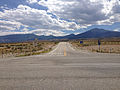 2014-08-09 14 11 00 View south from the north end of Nevada State Route 487 (Baker Road) at U.S. Routes 6 and 50 in White Pine County, Nevada.JPG