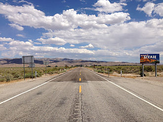 Utah State Route 21 - View east from the west end of SR-21 at the Nevada state line