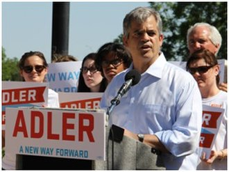 Steve Adler (lawyer) - Adler at his 2014 campaign launch