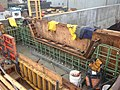 2014 04 08 Harvard Street Bridge South Abutment Concrete Modifications looking SE (14252081158).jpg