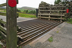 Cattle grid - A cattle grid on a country road in the Yorkshire Dales