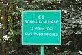 2014 Prowincja Tawusz, Tablica trasy turystycznej E2 (01).jpg