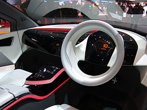 Automotive industry in India - Interior of Tata ConnectNext EV concept car at 2015 Geneva Motor Show