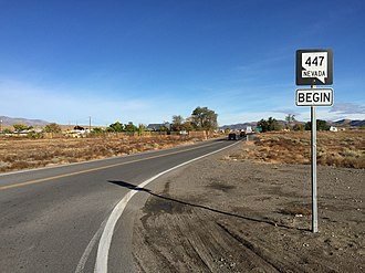 Nevada State Route 447 - View north from the south end of SR 447