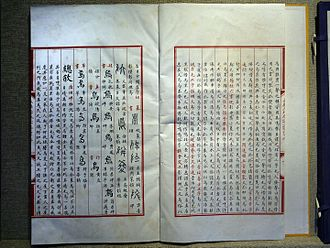 Yongle Encyclopedia - Pages of the Yongle Canon at the Changling tombs