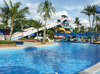 Khan Na Yao District - Slider and swimming pool of Siam Park City