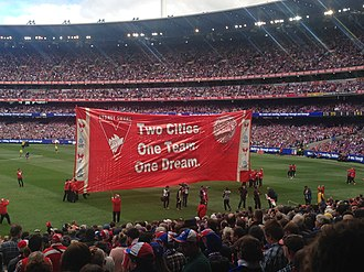 2016 AFL Grand Final - The respective banners for both sides