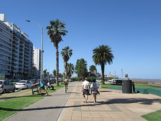 Rambla of Montevideo - The rambla Gandhi, in Punta Carretas.