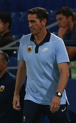 Manuel Jiménez Jiménez - Jiménez coaching AEK in the Champions League (2017)