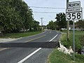 2017-08-28 11 06 29 View north along Maryland State Route 358 (Jacksonville Road) at Mill Lane in Crisfield, Somerset County, Maryland.jpg