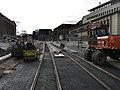 2017-11-27, Stadtbahnbau auf dem Freiburger Rotteckring, Asphaltierung an der Einmündung der Eisenbahnstraße.jpg