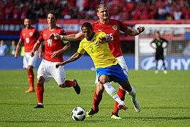 20180610 FIFA Friendly Match Austria vs. Brazil Costa Prödl 850 0167.jpg