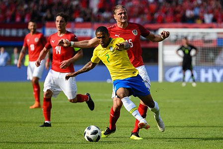 20180610 FIFA Friendly Match Austria vs. Brazil Costa Prödl 850 0167.jpg