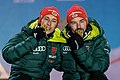 20190224 Men's nordic combined team sprint HS130 Medal Ceremony Frenzel Riessle 850 3365.jpg