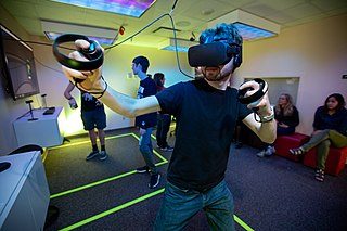 Virtual reality game Video game played in virtual reality