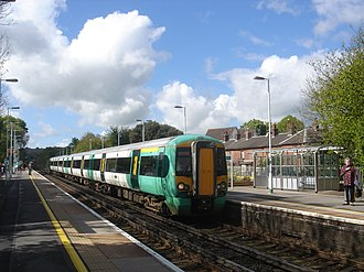 British Rail Class 377 - Southern Class 377/4 No. 377447 at Hassocks