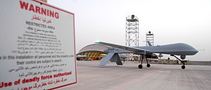 451st Air Expeditionary Group - An MQ-1 Predator taxis for an Operation Enduring Freedom mission