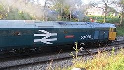50026 Indomitable at Harmans Cross (7225292006).jpg