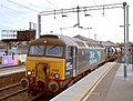 57 310 & 57 303 bring the Stowmarket-Clacton-Stowmarket RHTT working through Hythe station to a stop at Eastgates East Junction, before proceeding over the triangle towards Colchester North . Saturday 25th Oct 2014 - 15439028370.jpg