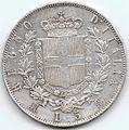 5 Lire del Regno d'Italia - 1872 01.jpg