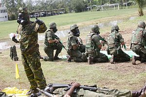 CBRN defense - Brazilian Marine Corps training for CBRN defense.