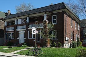 Jean Hall - The fourplex at 63 Jerome Street Toronto designed by Jean Hall