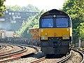 66846 (and 66 number 169) Sydenham to Hoo Junction up yard (14029693839).jpg