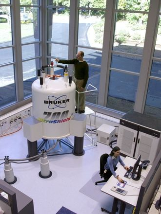 Nuclear magnetic resonance - Bruker 700 MHz nuclear magnetic resonance (NMR) spectrometer.