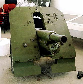 76 mm mountain gun M1938 - M1938 in the Artillery Museum of Finland.