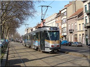 Brussels tram route 82 - 7939 on the Boulevard de l'Abattoir, 2011.
