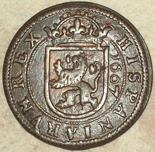 8 Maravedís de Felipe III (1607) Acuñada en Segovia