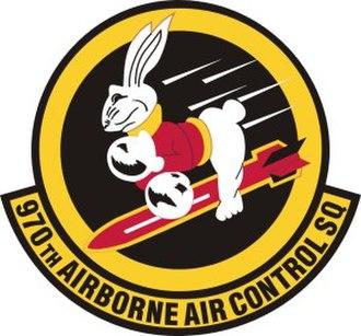 970th Airborne Air Control Squadron - 970th Airborne Air Control Squadron Patch