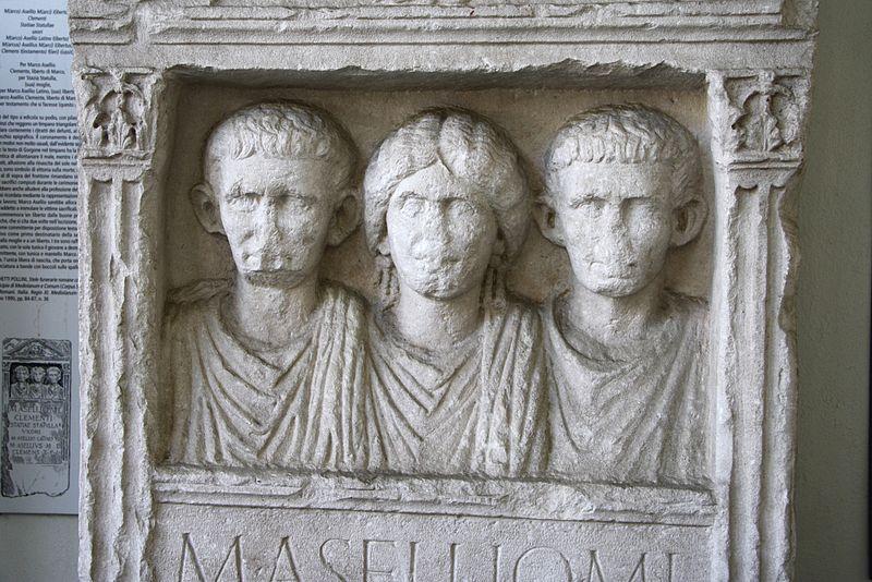 File:9941 - Museo Archeologico di Milano - Lapide degli Asellii, sec. II d.C. - Foto Giovanni Dall'Orto, 13 Mar 2012.jpg